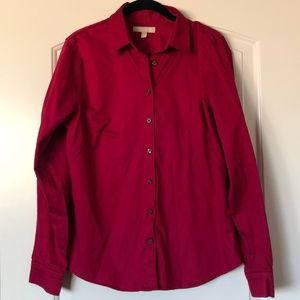 Banana Republic Red Button-Up Blouse